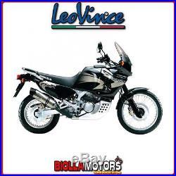 8424e Pot D'échappement Leovince Honda Xrv 750 Africa Twin 1997- LV One Evo Inox