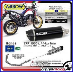 Arrow Echappement Complète Allu Dark App Honda CRF 1000L Africa Twin 2016