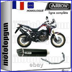 Arrow Ligne Complete Hom Nocat Mrt Noir C Honda Crf 1000 L Africa Twin 2018 18