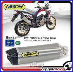 Arrow Pot D'Echappement Titane approuve Honda CRF 1000L Africa Twin 2017