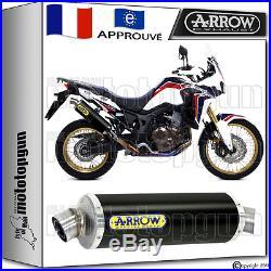 Arrow Pot Echappement Maxi Racetech Noir Hom Honda Crf 1000 Africa Twin 2016 16