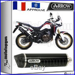 Arrow Silencieux Maxi Racetech Dark CC Hom Honda Crf 1000 L Africatwin 2016 16