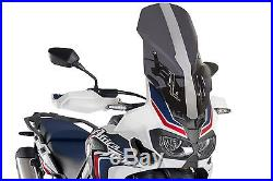 Bulle Touring Avec Support Puig Honda Crf 1000l Africa Twin 2017 Fume Fonce