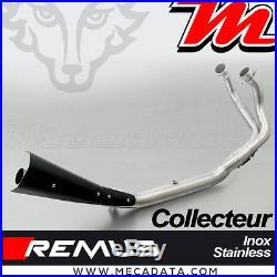 Collecteur Remus 2-1 inox avec catalyseur Honda CRF 1000 L Africa Twin 2016 +