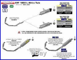 Complet Arrow Pour Honda Africa Twin Adventure Sport 2018 2019 Maxi Race-tech Ti