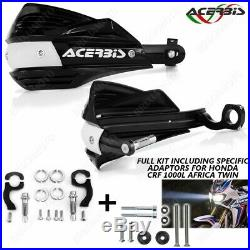 Couple Protege-mains + Adapteurs X-factor Noir Honda Africa Twin Crf 1000l 16/1