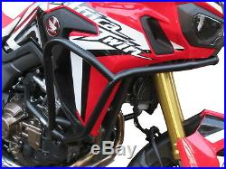 Crash Bars Pare carters Heed HONDA CRF 1000 Africa Twin DCT Basic noir + Sacs