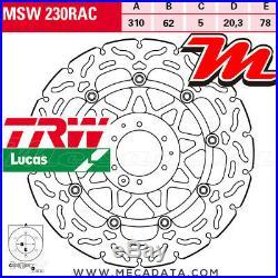 Disque de frein Avant TRW Honda CRF 1000 L, LA, LD Africa Twin (SD06) 2017+