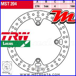 Disque de frein Avant TRW Lucas MST 204 Honda XRV 750 Africa Twin (RD07) 1999