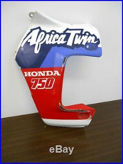Flanc de carénage gauche d'origine de Honda XRV 750 Africa Twin type RD04