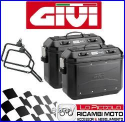 Givi Valises Latéral DLM36 Noir + Supports Honda CRF1100L Africa Twin Adv S 2020