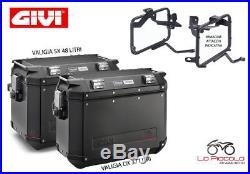 Givi Valises Latéral Outback Noir + Attac. Pl1144cam Honda Africa Twin 1000'16