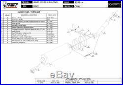 HONDA XRV 750 AFRICA TWIN 2001 2002 MIVV Pot échappement OVAL Carbone Homologué