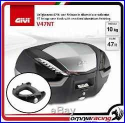 Kit Givi Top Case Valise V47 TECH + plaque HONDA AFRICA TWIN 750 9602