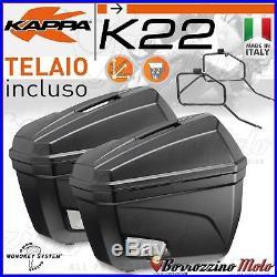 Kit Valises Laterales Kappa K22 Support Monokey Honda Africa Twin 750 1994 1995