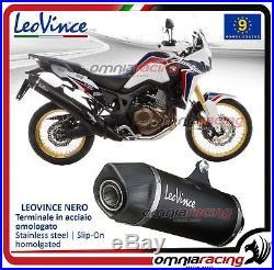 Leovince Nero Evo II Pot D'Echappement acier Honda CRF 1000L Africa Twin 2016