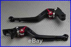 Levier leviers long levers CNC noir black Honda Toutes Africa Twin 750 XRV
