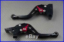 Leviers court short levers CNC black noir Honda toutes Africa Twin 750 XRV