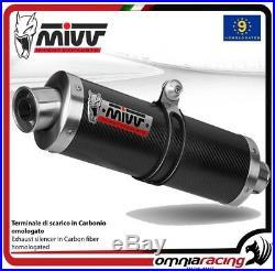 MIVV OVAL Pot D'Echappement approuve carbone HONDA XRV750 AFRICA TWIN 1995 95