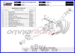 MIVV OVAL Pot D'Echappement approuve titane HONDA XRV750 AFRICA TWIN 2002 02