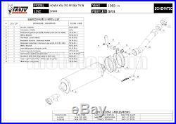 MIVV Pot D Echappement Hom Oval Carbon Honda Xrv 750 Africa Twin 1993 93 1994 94