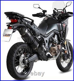 MIVV Pot Echappement Hom Speed Edge Noir CC Honda Crf 1000 L Africa Twin 2017 17