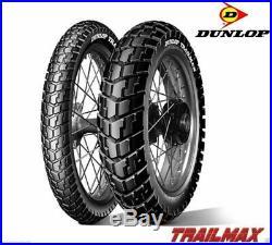 Paire Pneus Dunlop 90/90-21 140/80-17 Trailmax Honda Africa Twin 750 1993-2003