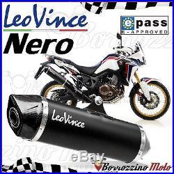 Pot D'echappement Approuve Leovince Noir Inox Honda Crf 1000 L Africa Twin 2016