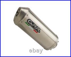 Pot d'Echappement GPR SATINOX Approuvé HONDA AFRICA TWIN 750 RD04 1990 1992