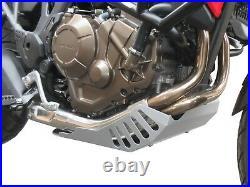 Sabot moteur Heed HONDA CRF 1000 AFRICA TWIN acier argenté