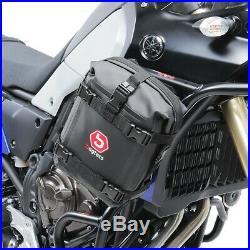 Sacoche pour pare carter paire pour Honda Africa Twin XRV 750 / 650 K3 6 l noir