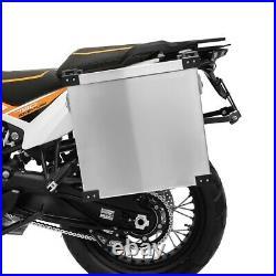Sacoches aluminium 40l + supports 18mm Honda Africa Twin CRF 1000 L/XRV 650/750
