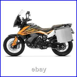 Sacoches aluminium 40l + supports 18mm pour Honda Africa Twin XRV 750 / 650
