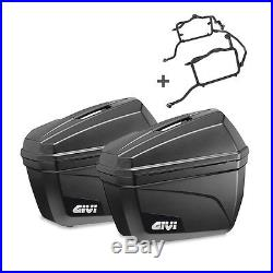 Set de valises latérales moto Honda Africa Twin XRV 750 96-02 Givi E22N 22l
