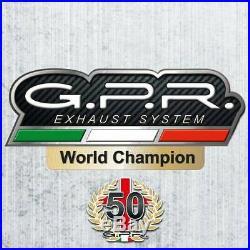 Silencieux Gpr Sonic Titane Honda Crf 1000 L Africa Twin 2015 / 2016 / 2017