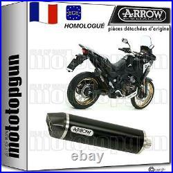 Silencieux Hom Arrow Maxi Race-tech Noir C Honda Crf 1100 L Africa Twin 2020 20