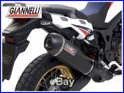 Silencieux Maxi Oval Alu Black Carbe Giannelli Honda Africa Twin Crf 1000 L 16