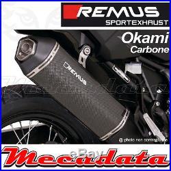 Silencieux Pot échappement Remus Carbone Okami Honda CRF 1000 L Africa Twin 16+