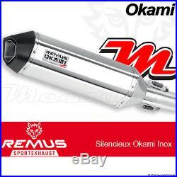 Slip-On Exhaust Remus Stainless steel EEC Okami Honda CRF1000L Africa Twin 2016+