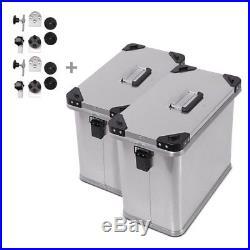 Valises Latérales aluminium 2x34l+kit 18mm Honda Africa Twin XRV 650/ 750