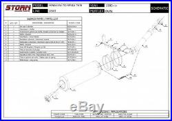 XRV 750 AFRICA TWIN HONDA 1999 2000 STORM By MIVV Pot Échappement OVAL Homologué